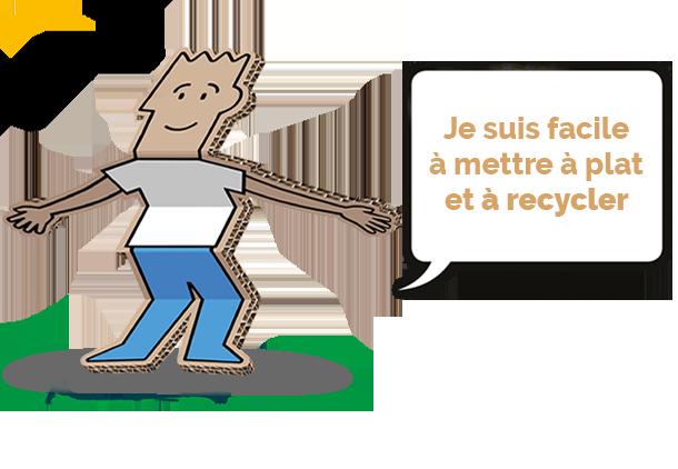 je suis facile à mettre à plat et à recycler