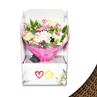 le carton ondulé pour présenter et transporter les fleurs et les plantes