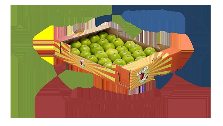 plateau fruits et légumes en carton ondulé est social, économique et environnemental